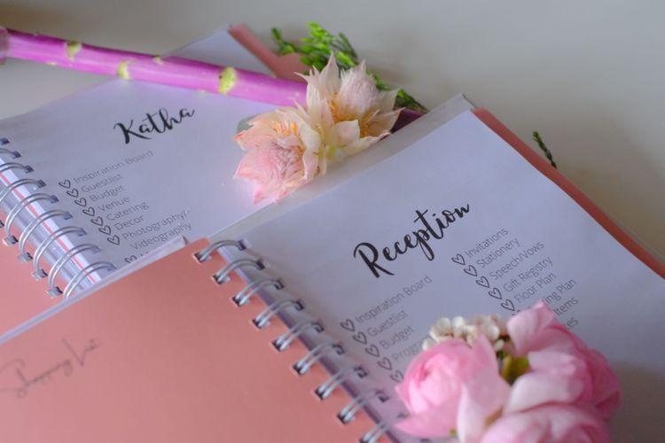 Sanskara custom built wedding diaries